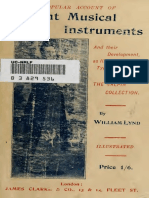 A Popular Account of Ancient Musical Instruments and Their Development 1897
