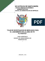 Plan de Investigacion de La Linea de Te Filtrantes