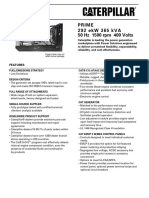Spec Sheet c15 365 Kva Prime Low Emission