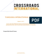 Tanzania Operational Report-facts - Recommendations