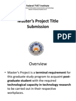 Master's Project Presentation