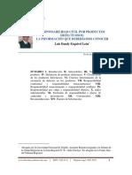 Responsabilidad Civil Por Productos Defectuosos