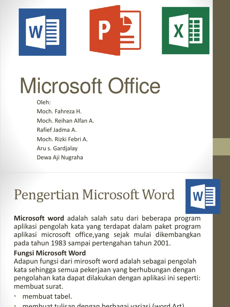 fungsi microsoft office word excel power point
