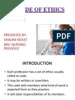Code of Ethics Shalini