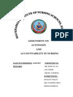 Autonomy Accountability