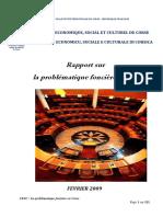 Rapport Foncier