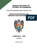 MV1. Currículo Ciencias Fisico Matemáticas