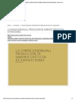 LO COMÚN DISENSUAL- PRODUCCIÓN DE SABER...COS EN EXPOSICIONES | revistaerrata.co