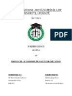 PROVINCES OF CONSTITUTIONAL INTERPRETATION
