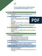 Temario – Taller Avanzado Del Sistema Gestión Contable Financiero. 4
