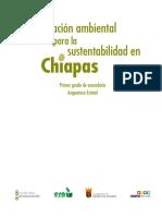 Educación ambiental para la sustentabilidad en Chiapas 1ero Secundaria Baja 2015