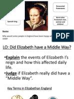 Did Elizabeth Have a Middle Way