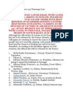 Unofficial Air France 447 Passenger List