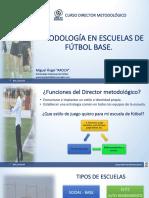 Metodología en escuelas de fútbol base.