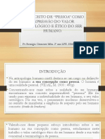 Pessoa e Valor Ontologico. REMIGIO CLEMENTE-CHECHU ISMMA 2017