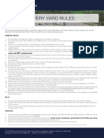 Amners Farm Livery Yard Rules
