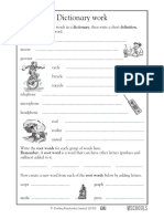Dictionary Worksheet