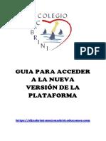 Guía Para Acceder a La Nueva Versión de La Plataforma