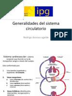 Generalidades Del Sistema Circulatorio