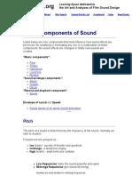 Nine Components of Sound