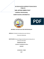 Informe Tercer Modulo de instituto superior