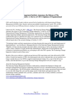 The Sourcing Change Management Institute Announces the Release of The Technology Change Imperative