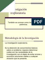 19. Investigación exploratoria