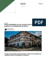 Áreas Tombadas Na Luz Correm Risco Sob Novo Projeto de Revitalização de Doria - VICE