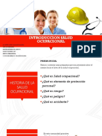 Introduccion Salud Ocupacional