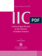 Cultural Specificities in the History of Indian Science - Michel Danino (OP 34 of IIC).pdf