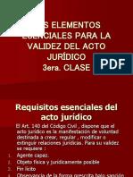 3ERA CLASE Los Elementos Esenciales Para La Validez Del Acto