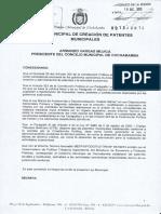Ley de patentes 2014 Patentes Cochabamba