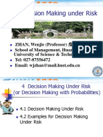 4 Decision Making Under Risk
