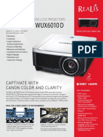 Canon REALiS WUX6010 and WUX6010 D Pro AV Projector