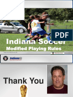 Indiana Soccer Modified Playing Rules 2017-2018