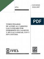 3335-1997-Tubos pesados de acero al carbono galvanizado y sin galvanizar, con y sin costura.pdf