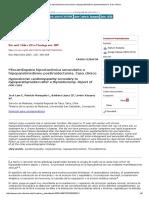 Miocardiopatía Hipoclacémica Secundaria a Hipoparatiroidismo Postiroidectomía Caso Clínico