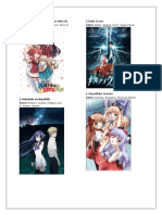Anime-Watch-List-2017 to 2018