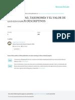 Biodiversidad Taxonomia y El Valor de Los Estudios