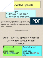 Reported Speech 1