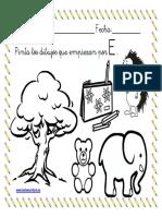 Ficha Colorear Dibujos Que Empiezan Por La Letra e