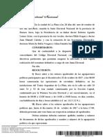 Resolución de la Junta Electoral sobre el recuento definitivo de votos