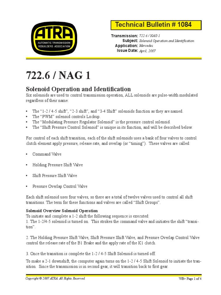 722 6 Solenoid Truth Table | Transmission (Mechanics