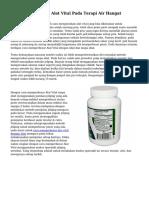Cara Mengeraskan Alat Vital Pada Terapi Air Hangat