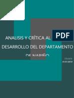 Analisis y Crítica Al Plan de Desarrollo Del Departamento de Nariño
