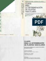 Plantas - Claves Para La Determinacion de Las Plantas Vasculares
