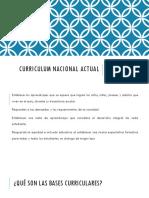 Curriculum Nacional Actual