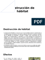 Destrucción de Hábitat