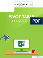 Pivot Table Cheat Sheet New