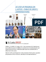 SRI LANKA MUST STEP UP PROGRESS ON TRANSITIONAL JUSTICE – PABLO DE GREIFF ( TEXT AND RECOMMENDATIONS).docx